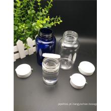 Recipientes de goma de mascar garrafa de doces de plástico PET com Tear Cap