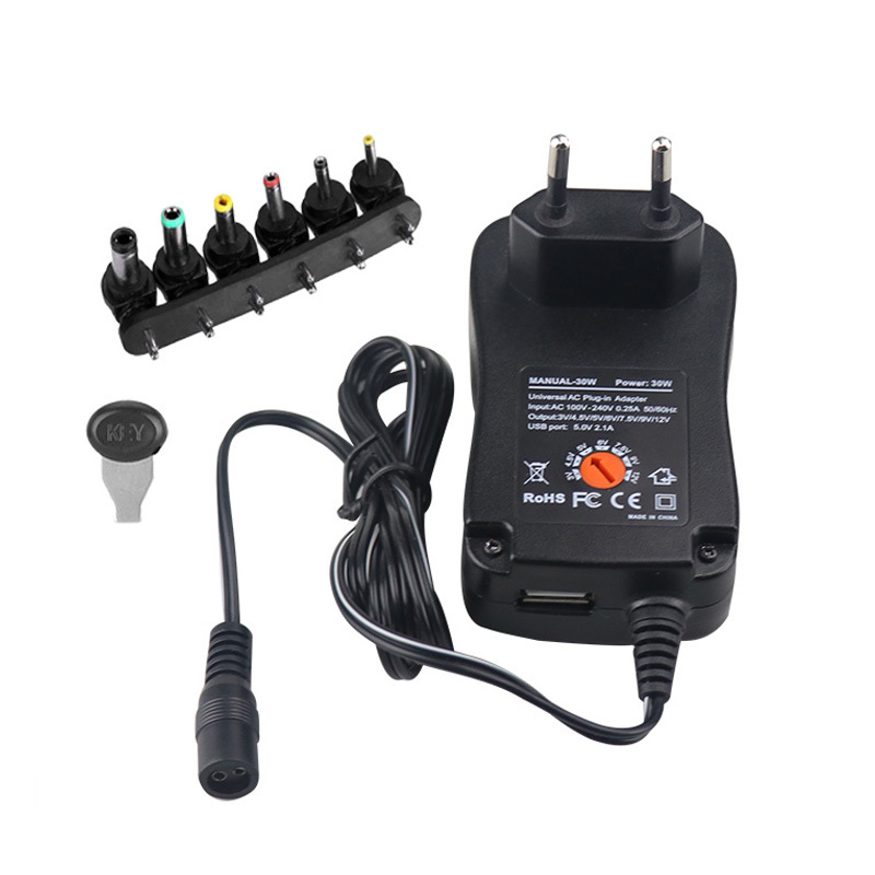 Multi 6 dc broches Power Charger EU Plug