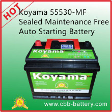Koyama 55530-Mf Sealed Maintenance Free Auto Starting Battery