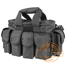 Multifunctional Tactical Bag dual-zip flap with molle system comprised of nylon webbings