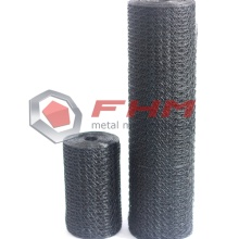 Black Vinyl Coated Chicken Wire Netting untuk Garden