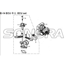Set ECU E-14 XS150T-8 CROX Per SYM Spare Part Top Quality