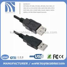 5FT 1.5M USB AM A AF EXTENSIÓN CABLE USB 2.0 NEGRO - Alta velocidad de transferencia de datos hasta 480 Mbps