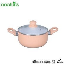 White Ceramic Induction Bottom Pressed Sauce Pan