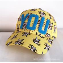 Una nueva tendencia, ornamento de la gema, sombrero de la raya Sombrero del Snapback Sombreros urbanos de la manera Gorra de los deportes