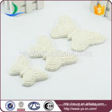 3pcs decorações borboleta branca definida para a arte