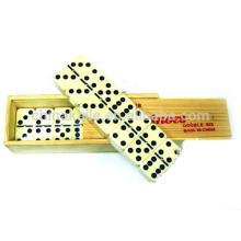 Conjunto de Domino de caja de madera