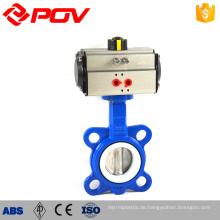 PTFE 1 Zoll Scheibenventile mit pneumatischem Antrieb
