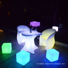 Color changing smart controlled led plastic party chairs