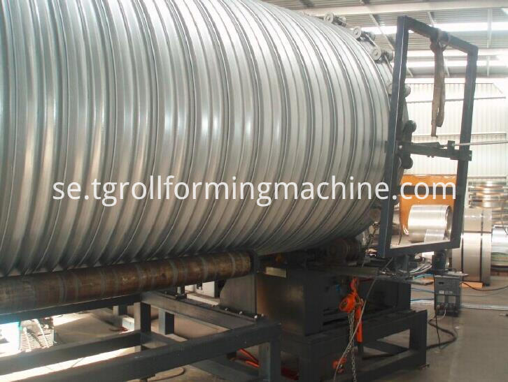 Steel Culvert Pipe Roll Forming Machine
