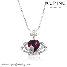 43152 Fashion Elegant Heart-Shaped Crystals From Swarovski Jewelry Pendant Necklace