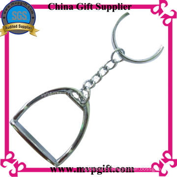 Metal Keychain with Horse Shoe