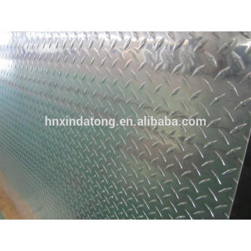 aluminum tread plate in diamond pattern for construction