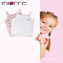 MIORRE OEM KID'S GIRL NEW 2017 COLLECTION ANIMAL CARTOON PRINTED COTTON 2 PACK SLEEVELESS TANK TOPS