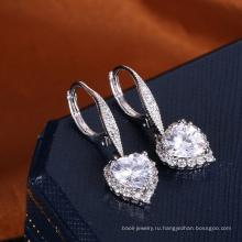 Подарок Валентина дня любовь сердце ювелирные изделия серьги очаровательные серьги алибаба