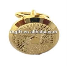 Brazaletes de diseño grabado de alta calidad con chapado en oro
