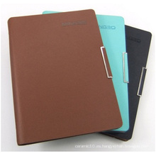 Cubierta de cuero de imitación personalizada del cuaderno. Regalos de la hebilla del metal de la PU