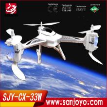 Nuevo producto 2015 CX-33W quadcopter rc drone pasatiempo con hd wifi wifi control remoto ufo