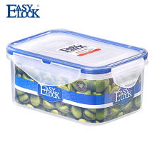 caja plástica al por mayor del almacenaje del alimento de la cerradura fácil del producto del dólar