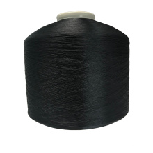 FDY semi dull DDB dope dyed black 100% polyester fdy twisted 50 denier yarn fdy 50 D 48 for weaving