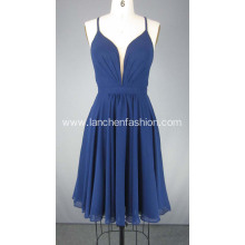 Navy Blue Short Red Carpet Dresses Cocktail Dress