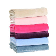Plain Outdoor Travel Coral Fleece Blanket