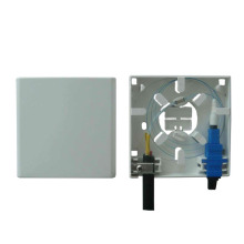 Indoor 2 ports Optic Socket/Mini Fiber Optic faceplate