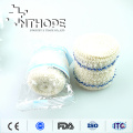 white color crepe bandage with blue thread