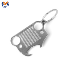 Personalized jeep novelty bottle opener keychain