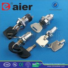 Daier metal ON-OFF waterproof key switch