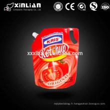 Ziplock boite de boisson réutilisable réutilisable avec bec verseur