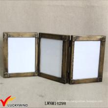 Vintage Industrial Metal Folding Hinged Photo Frame