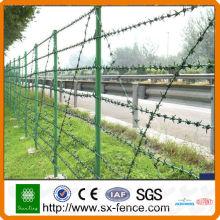 Alambre de púas de la maquinilla de afeitar + poste de la cerca ++ cerca del acoplamiento de alambre (instalación fácil)