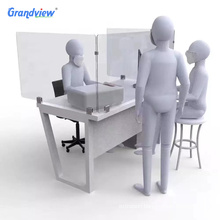 acrylic transparent isolation board desk screen partitions sneeze guard with legs