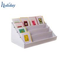 Armazene suportes de exposição do cartão de presente do cartão da bancada