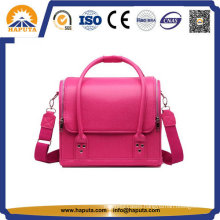 Lady Pink Popular Leather Makeup Cosmetic Bag (HB-6612)