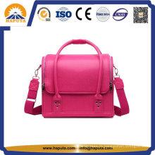 Pink Lady couro Popular maquiagem saco cosmético (HB-6612)