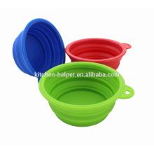 Venta caliente al por mayor impermeable a prueba de agua perro antiadherente perro Bowl plegable de silicona Pet Bowl / Pet plegable gato gato del perro