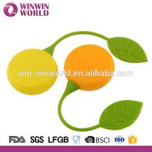 Injecteur en forme de citron de thé de silicone de catégorie comestible / crépine de thé de silicone