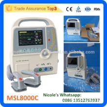 MSL8000C-i PORTABLE BIPHASIC DEFIBRILLATOR WITH ECG, RESPIRATION, NIBP,SPO2 FUNCTION