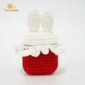 Red And White Stitching Rabbit Bluetooth Earphone Case