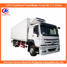 HOWO 6X4 371HP refrigerou o caminhão do congelador do caminhão do refrigerador do caminhão