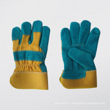 Cow Split Leather Full Palm Work Glove (3058)
