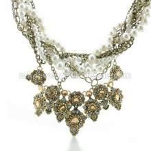 Жемчужная цепочки вязать медной цепочке горный хрусталь классическое ожерелье