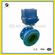 Valve électrique de bride de la fonte DN100 de CTF-010 AC220V pour le projet de contrôle automatique de traitement de l'eau