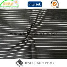 Futter aus 100% Polyester-Streifenmuster
