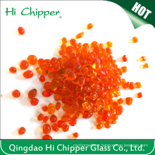 Red Colored Glass Beads for Fireplace