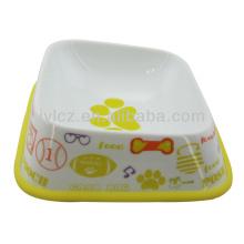 Alimentador de alimentos para mascotas en forma de perro de cerámica 2014