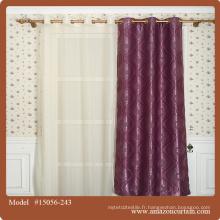 La plus récente fenêtre de design Tissu jacquard en rideau, dernier tissu rideau de décoration