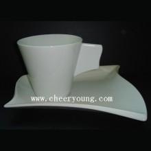 Tasse en porcelaine et sa soucoupe (CY-P539)